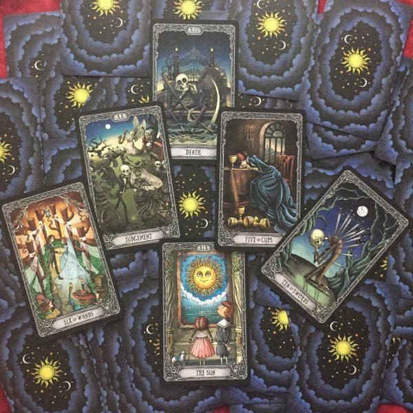Dark Mansion Tarot 3rd Edition Black Blue
